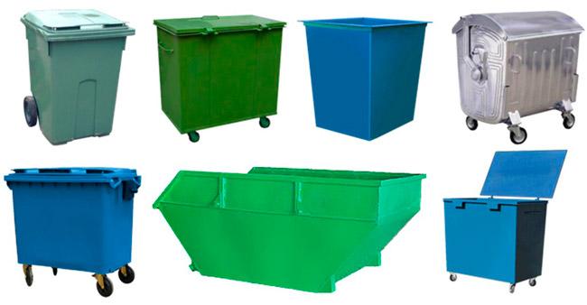 Виды контейнеров для мусора