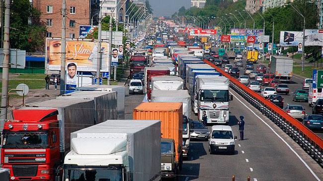 Запрет движения грузового транспорта в Москве