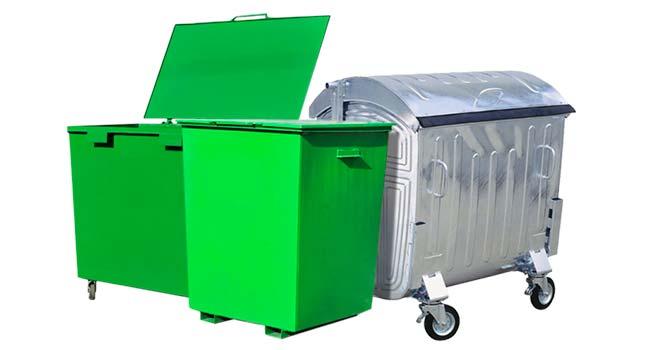 Металлические баки для мусора