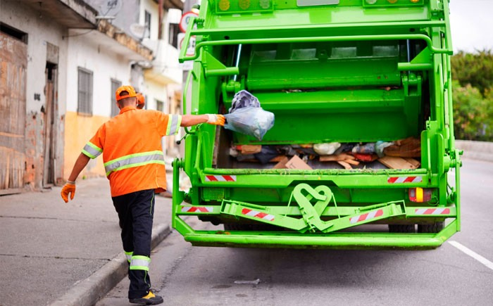 Погрузка пищевых отходов